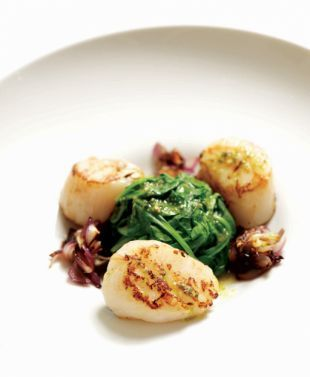 Four Flat Belly Recipes, including scallops