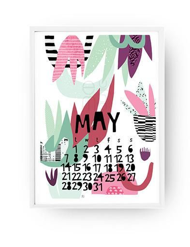 Check out this item in my Etsy shop https://www.etsy.com/listing/573579087/printable-flower-calendar-2018-a4-cute