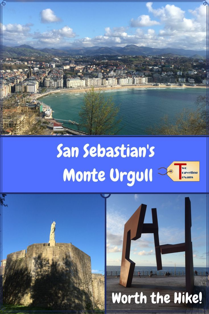 A travel blog about hiking San Sebastian's Monte Urgull to see the castle, statue of Christ, British Cemetery, & amazing views of the city. via /2travelingtxns/