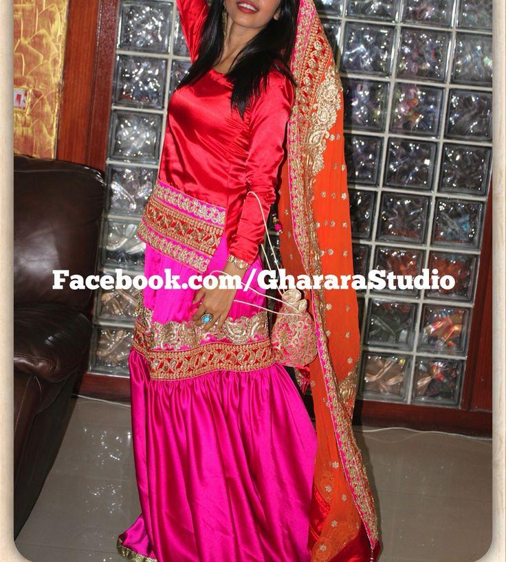 Satin Gharara in hot pink, red and orange colour.  Customise it in your favourite colour combination. #Gharara #ghararastudio #ghararastudiobyshazia #ghararadesign #ghararafashion #ghararah #satingharara #hotpink #red #orange #3d #fashion #fashionblog #blogger #indianfashionblog #indianfashionblogger #ghararaexpert #handcraft #embroidery #embroideryart #orderonline #instafashion #fashiongram fashionable