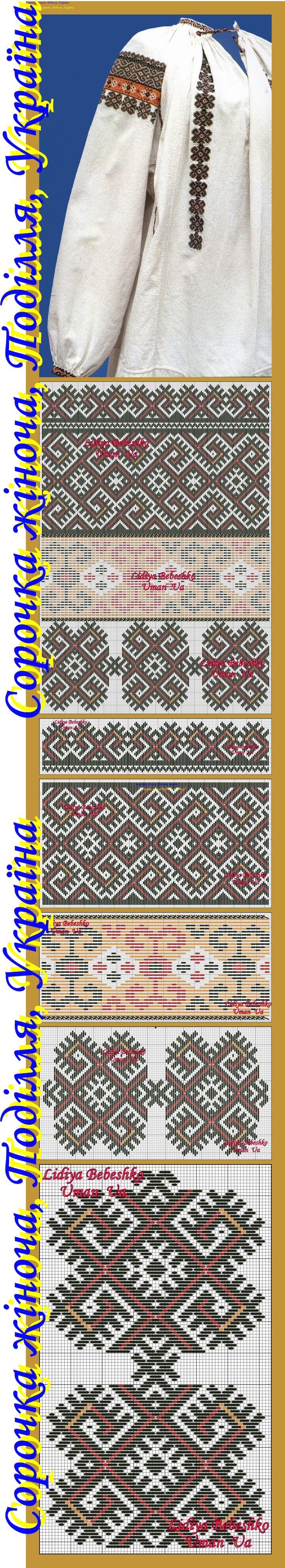 Сорочка жіноча з Одещини (?), Східне  Поділля, фонди Одеського історико - краєзнавчого музею.