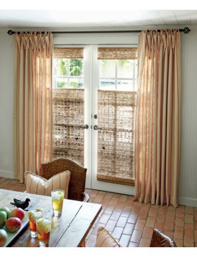 sliding glass door blinds and curtains