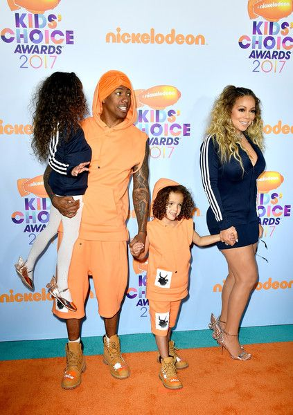 Mariah Carey Photos Photos - (L-R) Monroe Cannon, TV personality Nick Cannon, Moroccan Scott Cannon and singer Mariah Carey at Nickelodeon's 2017 Kids' Choice Awards at USC Galen Center on March 11, 2017 in Los Angeles, California. - Nickelodeon's 2017 Kids' Choice Awards - Arrivals