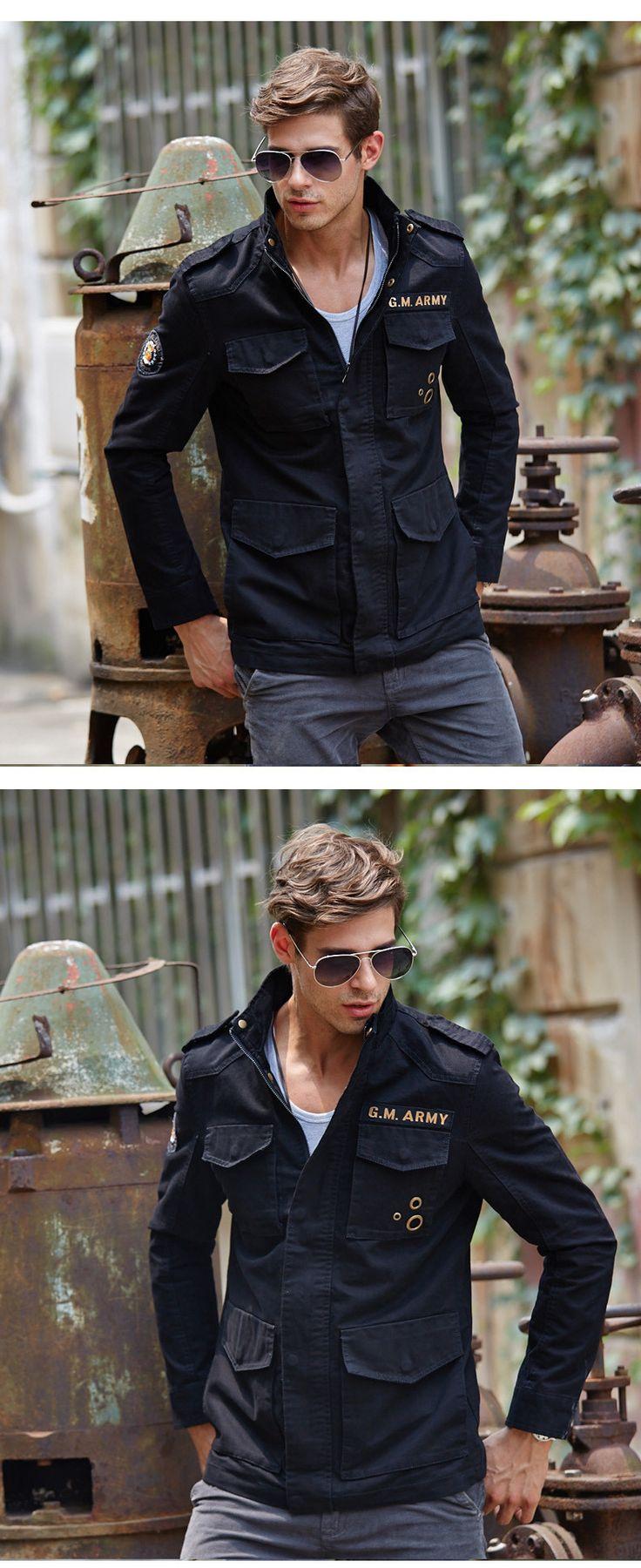 М 3XL куртка Бомбардировщика для мужчин Хлопок jaquetas Военные куртки мужчины…