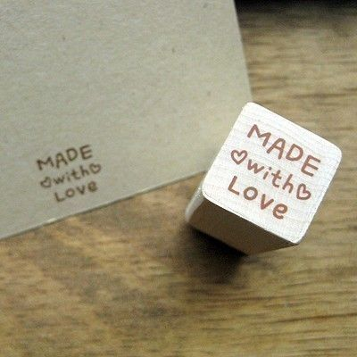 Heart Made With Love Stamp: Craft Rubber, Wooden Rubber, Gift, Wedding Ideas, Craft Ideas, Diy, Rubber Stamps, Crafts