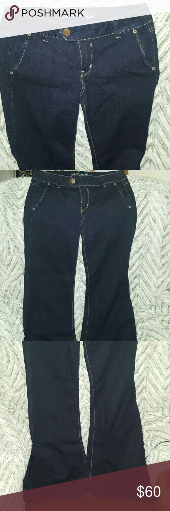TROUSER JEANS ~ American Eagle New without Tags TROUSER JEANS ~ American Eagle New without Tags ~ Size 8 ~ I 98% cotton 2% spandex. Perfect for casual or dressy wear. A hard to find style, so be quick on the purchase! I ship daily. American Eagle Outfitters Jeans Flare & Wide Leg
