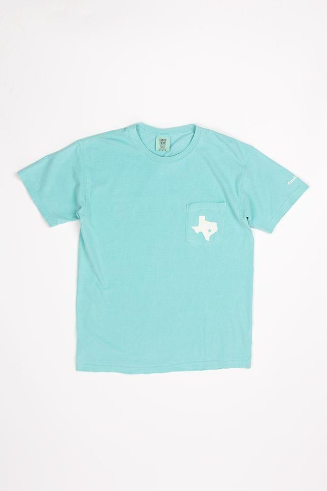11405591e1ac29 Comfort Colors Collection - Austin, Tx Pocket Tee   UT   Comfort ...