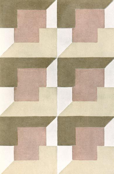 Textile design by Elise Djo-Bourgeois, produced in 1928 - LOVE THIS PATTERN