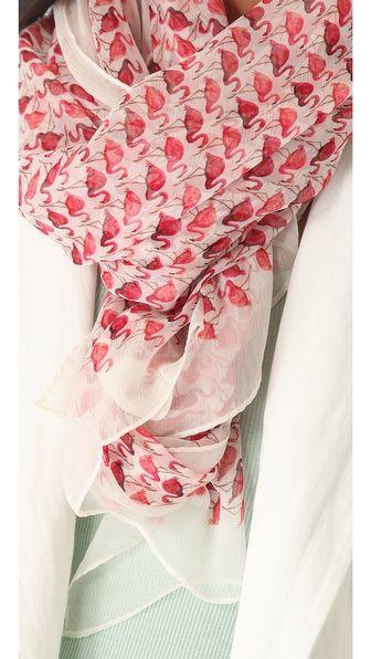 Tory Burch Flamingo Chiffon Scarf - want want want so bad