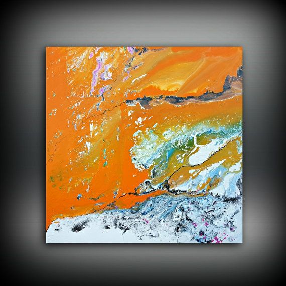 ORIGINAL Painting, Art Painting Acrylic Painting Abstract Painting Orange Painting, Wall Hanging, Extra Large Wall Art, Wall Decor 48 x 48 by ldawningscott. Explore more products on http://ldawningscott.etsy.com