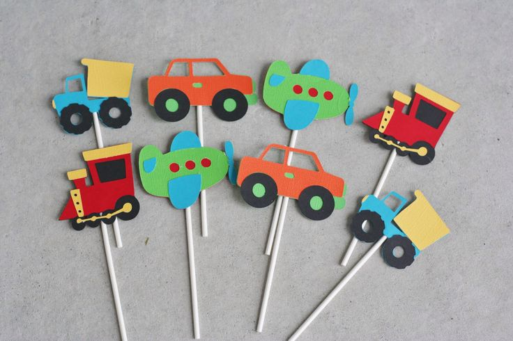 12 Transportation Toppers, Car Truck Birthday, Car Party, Airplane and Train Birthday by AngiesDesignz on Etsy https://www.etsy.com/listing/188198793/12-transportation-toppers-car-truck