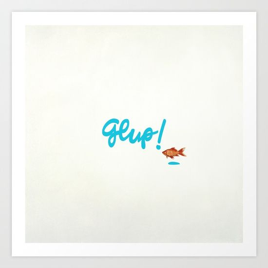 Collect your choice of gallery quality Giclée, or fine #art #prints custom trimmed by hand in a variety of sizes with a white border for framing.  #deco #decor #graphic-design #digital #pattern  #pop-art #typography #orange #blue  #fish #fishes #countercurrent  #onomatopoeia #sea #water  #maritime #minimal #idea #original #different #aquatic