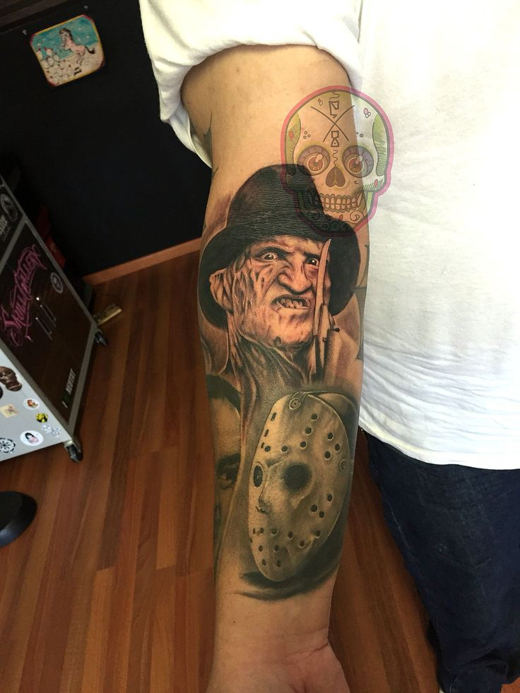 Freddy Krueger Jason Voorhees horror tattoo | My works ...