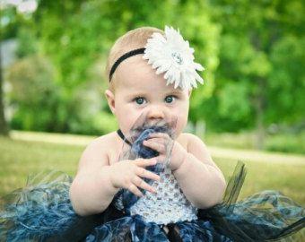 Coture Boutique Baby Girls Zebra Tutu Dress SET Crochet Top Tulle Zebra Skirt & Flower Hair Clip - Newborn Infant to Toddler 2 piece lot