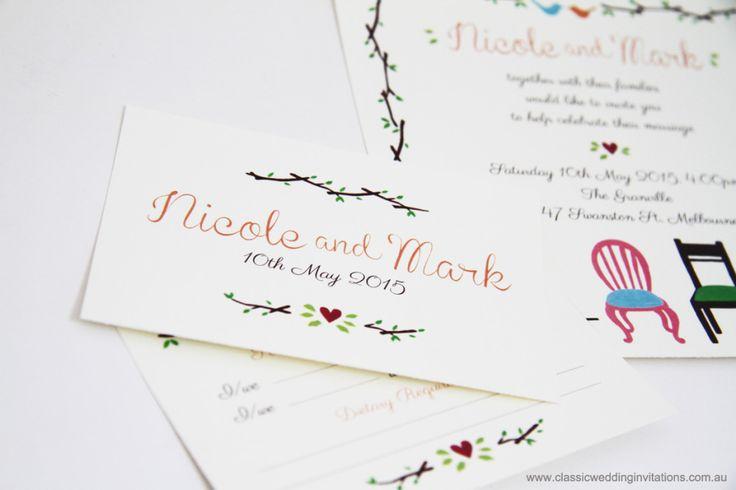 Wedding Invitations | New designs – Mr and Mrs Chair Invitation
