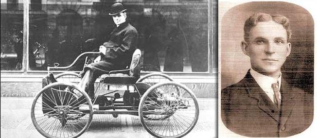 Henry Ford Et Son Invention Ancetre De Lautomobile Dans Sa Premiere Voiture