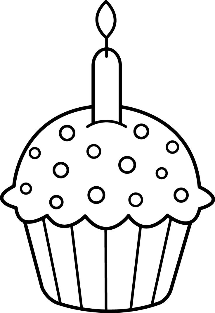 Free printable coloring pages birthday cake - Cupcake Clip Art Cupcake Coloring Pages Free Printable Cupcake Birthday Birthday Cards Silly Pictures Clipart Black And White Free Silhouette