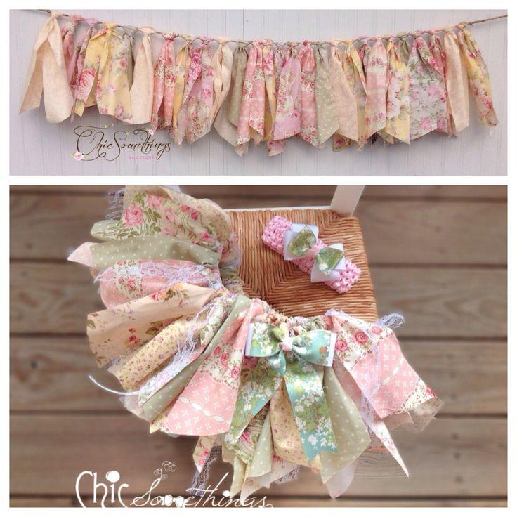 Fabric Tutu, TEA TIME, Vintage tea party lace, Shabby Chic Tutu, Baby Tutu…