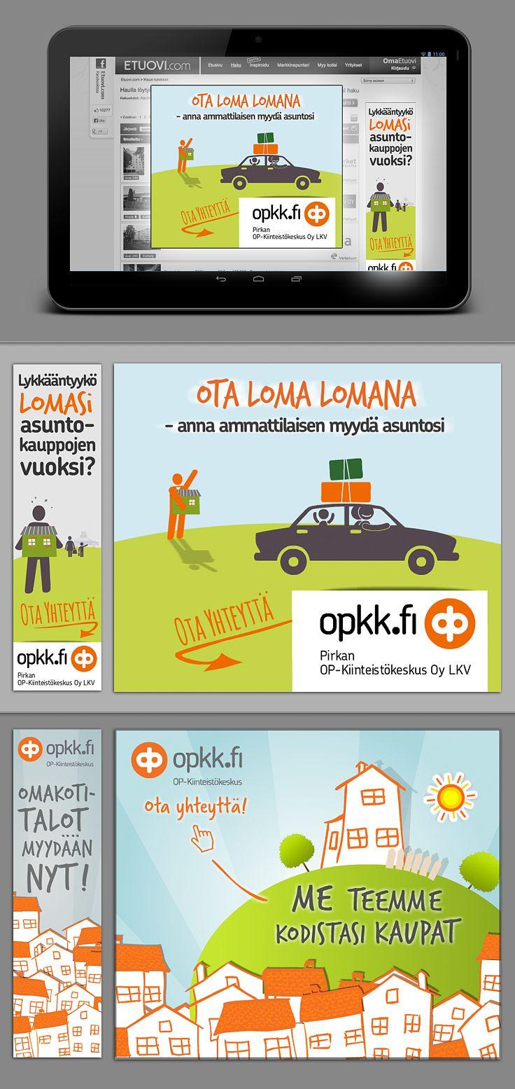 Banners for OPKK / Pirkan OP-Kiinteistökeskus