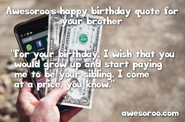 money with birthday quote
