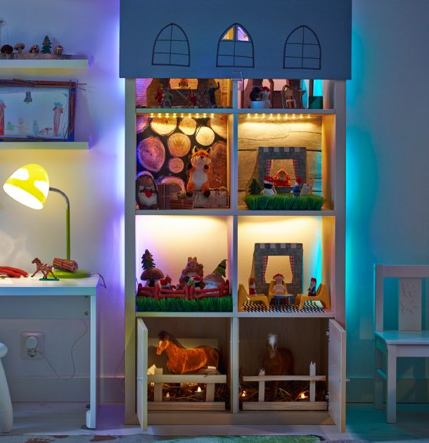Oltre 25 fantastiche idee su mobili dollhouse su pinterest for Mensole luminose ikea