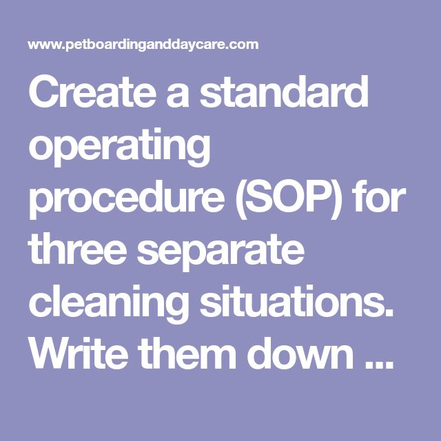 The  Best Standard Operating Procedures Manual Ideas On