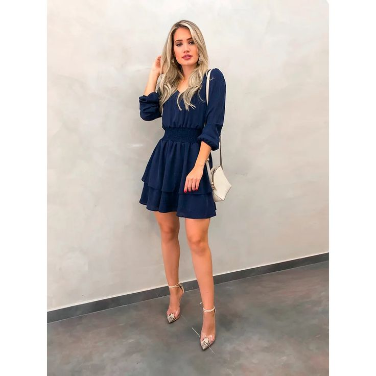 Vestido Lastex Louise Azul - Estacao Store | Roupas chique, Vestidos, Ideias fashion
