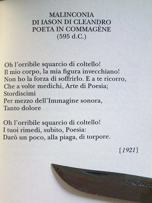 """Constantinos Kavafis, """"Malinconia di Iason di Cleandro, poeta in Commagène"""" - Traduzione di Guido Ceronetti"""