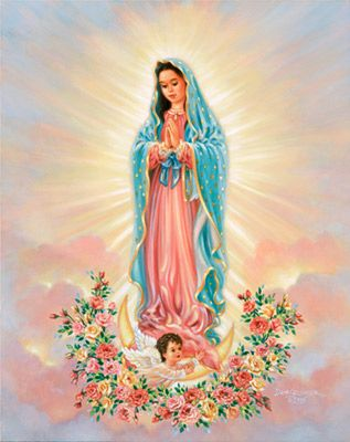 Our Lady Guadalupe Mural - Dona Gelsinger  Murals Your Way