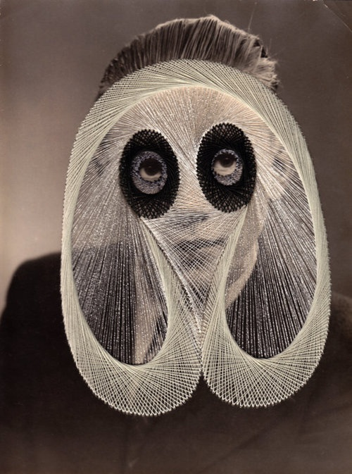 Maurizio Anzeri and his embroidery on photographs.
