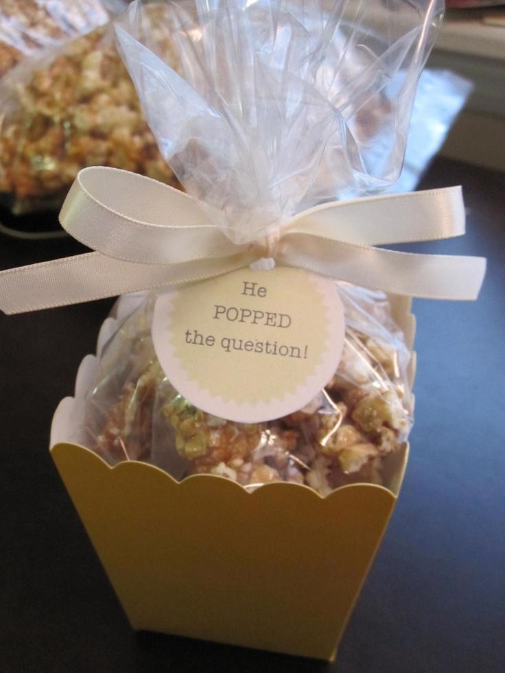 Caramel Popcorn Wedding Favors  www.graceyounglee.blogspot.com