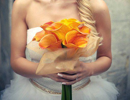 Wedding bouquet of calla mango/ svadobna kytica z calla mango
