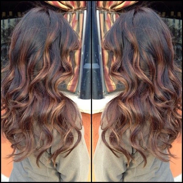 #ShareIG Dark brown base with light chocolate brown balayage highlights. Instagram photo by @beauty_by_briza by tanya