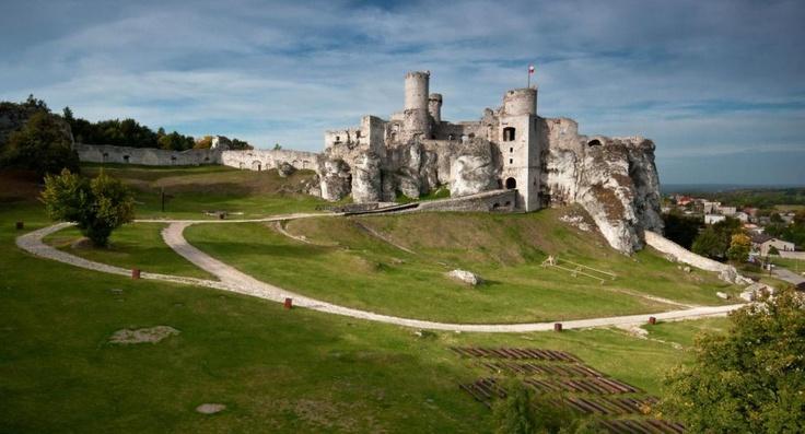 Zamek w Ogrodzieńcu - widok od wschodu
