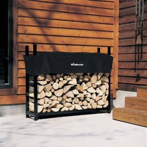 The Woodhaven 5-ft Firewood Log Rack - Woodhaven Official Site by Woodhaven. $159.00. Black Powder Coat Finish. Lifetime Warranty. Made from Mild Steel w/Stainless Steel Hardware. Log Capacity 1/4 Cord Plus. Made in the USA. All Stainless Steel Hardware! The Woodhaven Firewood Rack has a Black powder coat finish. Woodhaven firewood racks are made in the USA from 16 gauge steel. Unlike the majority of other firewood racks the Woodhaven is built to provide a lifetime of s...