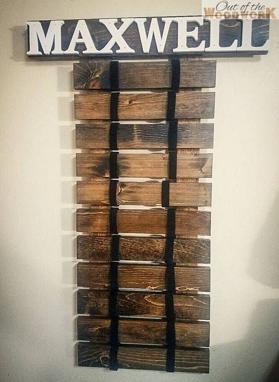 A great way to display all the belts earned in the journey to black belt. Personalization available including name and stain color. Please leave name and preferences in comments upon checkout. Height is 36 and approximate size for belt portion is 14 wide (may be wider on top