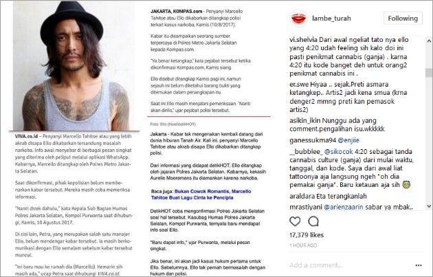 Ternyata Ello Pakai Ganja Sejak Kuliah  ForumViral.com – Melalui penyelidikan Kepolisian Jakarta Selatan Telah terungkap bahwasan tersangka ello telah memakan ganja sejak masa kuliah .    # Ello #Berita Viral #Berita Terkini #Berita Online #Berita Terpercaya #Forum Viral Berita #Berita Terupdate #Viral #Forum #berita #Hoax #Meme #Indonesia  selengkapnya http://www.forumviral.com/2017/08/ternyata-ello-pakai-ganja-sejak-kuliah.html