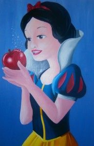 Snow White Disney painting on canvas