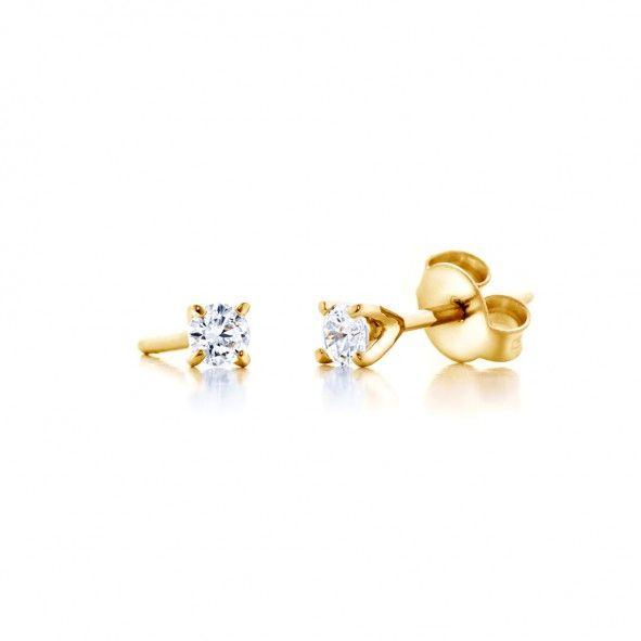 Kolczyki wykonane z 18-karatowego złota (próba 0,750). W kolczykach zostały osadzone 2 diamenty wysokiej czystości SI1/G o łącznej masie 0,10 ct. www.savicki.pl/kolekcje/the-light-pl