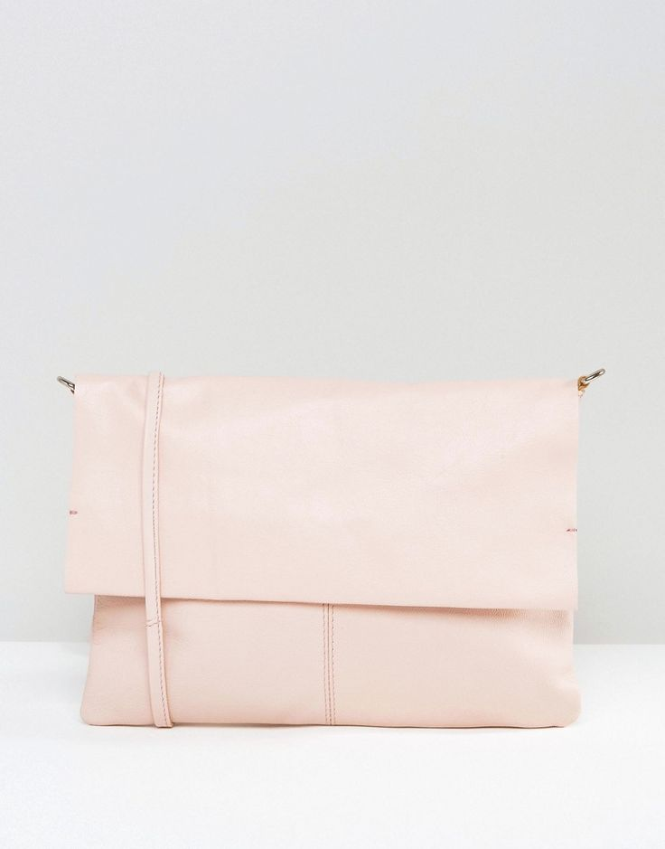 Image 1 of ASOS Unlined Soft Leather Cross Body Bag With Detachable Strap