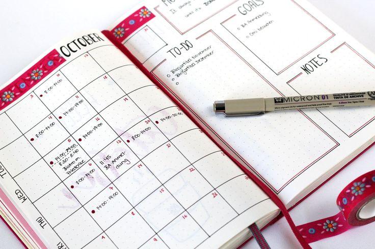 Es ist wieder soweit! Ein neuer Monat steht vor der Tür und es ist Zeit, in meinem Bullet Journal ein neues Kapitel zu beginnen. Monthly Setup - October.