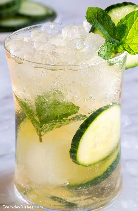This green tea cucumber cocktail will go down smoothly—it's light rather than pungent or harsh like many signature cocktail recipes out there!