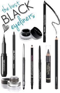 The BEST Black Eyeliners