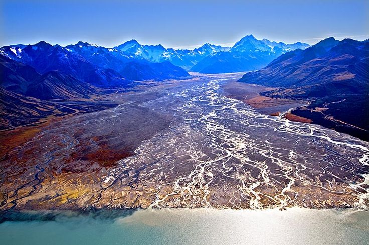 Tasman River runs into Lake Pukaki, see more, learn more, at New Zealand Journeys app for iPad www.gopix.co.nz
