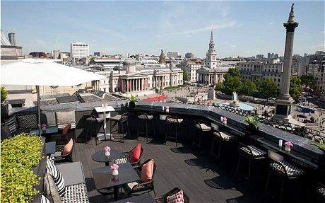 Vista rooftop bar  2 Spring Gardens, Trafalgar Square, SW1A 2TS; open Mon-Sun 12pm-1am; entry £5  Nearest tube trafalgar square