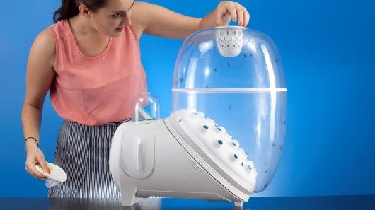Farm 432 is a device for kitchens that continually breeds and collects fly larva as a rene...