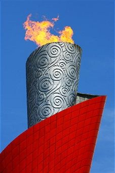 The Olympics Flame at the National Stadium on Day 7 of the Beijing 2008 Olympic Games on August 15, 2008 in Beijing, China.