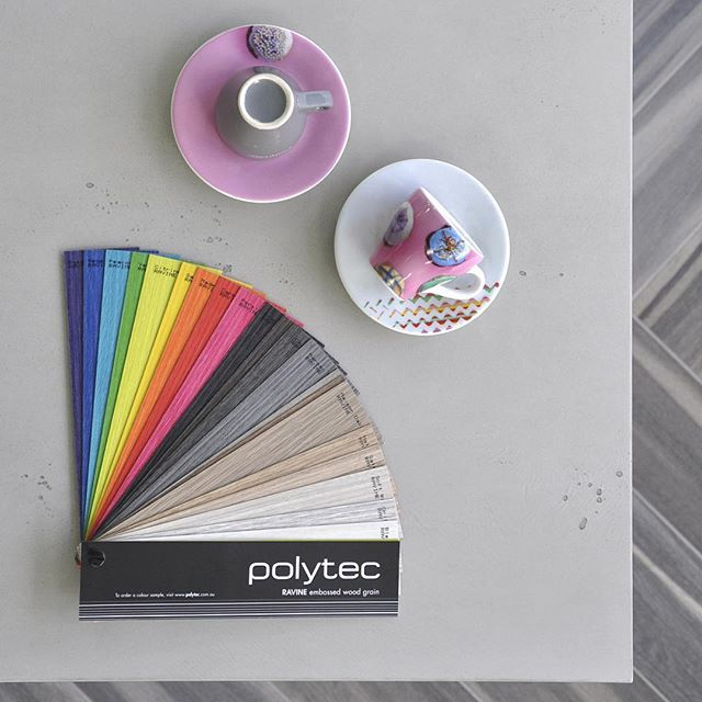 Brighten up your Monday with the polytec Ravine range. Our Coloured Oaks are the perfect way to add some brightness into your next project. #polytec #polytecravine #mondaymotivation #colouredoak #interiordesign #kitchendesign #colourinspiration