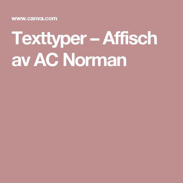 Texttyper – Affisch av AC Norman