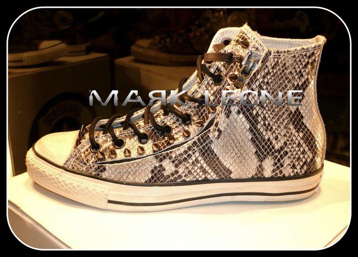 One More Custom Leather Design Converse All-Star with Zip & Black Nickel Spikes Created By Mark Leone ® Βρες το αγαπημένο σου δερμάτινο σχέδιο απο την μοναδική συλλογή μας ,και αποκτήστε το!! Για παραγγελίες ,η για οποιαδήποτε άλλη πληροφορία στείλτε μήνυμα στη σελίδα μας. Διαθέσιμο σε νούμερα -->ΑΠΟ 37 εως 46,5. Available sizes from-->4,5 uk to 12 uk. For more details ,orders or further information about our creations please send us an inbox message.